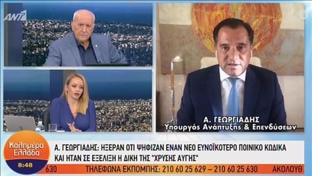 """Ο  Άδωνις Γεωργιάδης στην εκπομπή """"Καλημέρα Ελλάδα"""""""