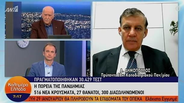 Αθανάσιος Δημόπουλος - Πρύτανης ΕΚΠΑ – ΚΑΛΗΜΕΡΑ ΕΛΛΑΔΑ - 21/01/2021