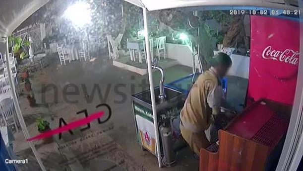 Σάμος: Βίντεο ντοκουμέντο  από κλοή σε εστιατόριο και το ξέσπασμα του ιδιοκτήτη