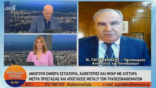 Νίκος Παπαθανάσης – Υφυπουργός Ανάπτυξης και Επενδύσεων - ΚΑΛΗΜΕΡΑ ΕΛΛΑΔΑ – 25/05/2020