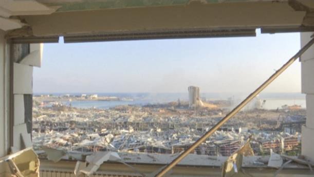 Εκτεταμένες ζημιές μετά από την έκρηξη στη Βηρυτό