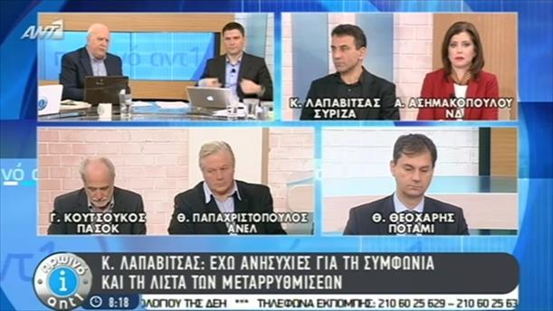 Πρωινό ΑΝΤ1 – Εκπομπή - 25/02/2015