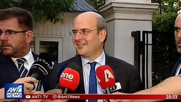 Δηλώσεις Χατζηδάκη μετά τη συνάντηση με τον Πρωθυπουργό