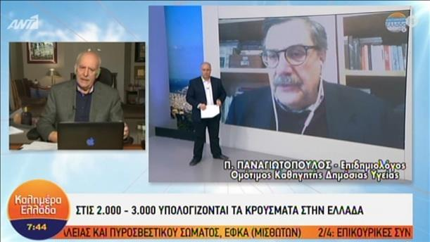 """Ο επιδημιολόγος Π. Παναγιωτόπουλος στην εκπομπή """"Καλημέρα Ελλάδα"""""""