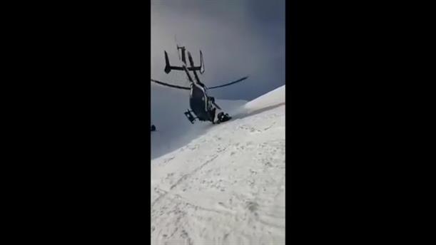 Εντυπωσιακή διάσωση με ελικόπτερο στις Άλπεις