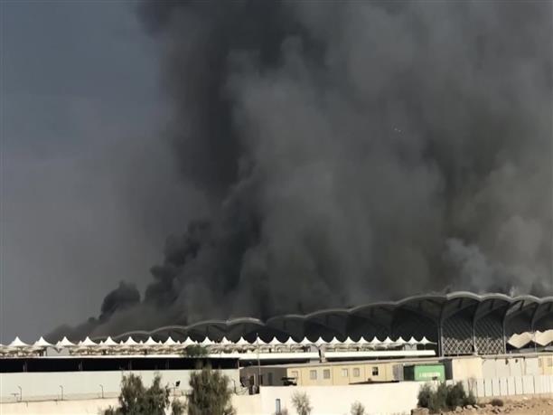 Μεγάλη πυρκαγιά στον σιδηροδρομικό σταθμό στην Τζέντα