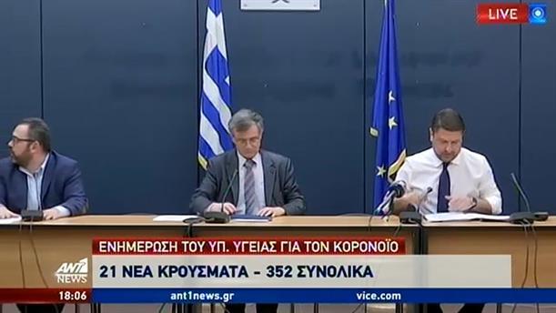 Κορονοϊός: 352 κρούσματα στην Ελλάδα