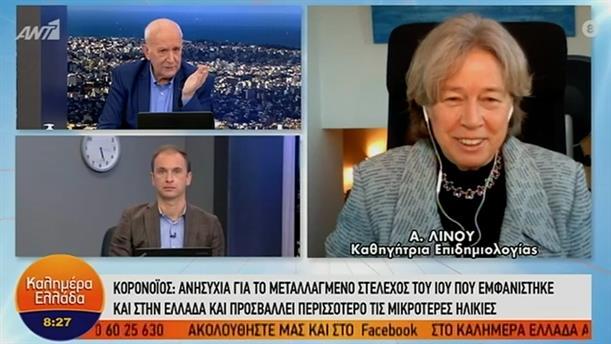 Α. Λινού - καθηγήτρια Επιδημιολογίας – ΚΑΛΗΜΕΡΑ ΕΛΛΑΔΑ - 05/01/2021