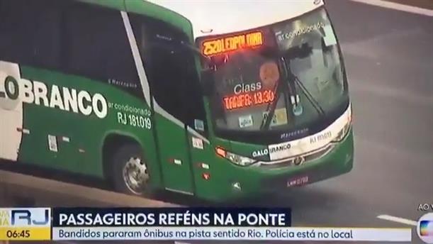 Ένοπλος κρατά ομήρους τους επιβάτες λεωφορείου στο Ρίο ντε Τζανέιρο