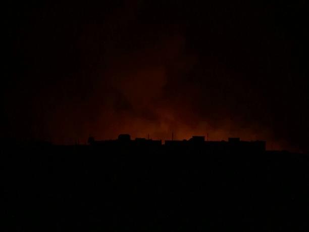 Εκρήξεις τη νύχτα στην Συρία κατά την διάρκεια της τουρκικής εισβολής