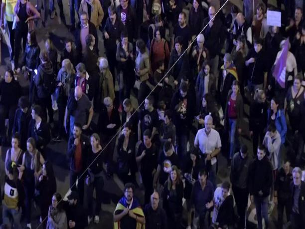 Συγκρούσεις σε διαδήλωση για την ανεξαρτησία της Καταλονίας