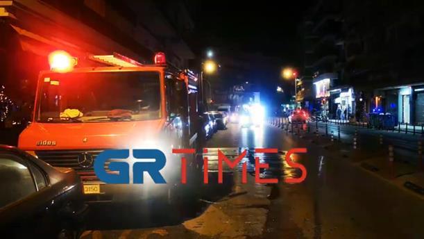 Φωτιά σε υπόγειο καταστήματος στη Θεσσαλονίκη