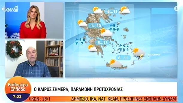 ΚΑΙΡΟΣ – ΚΑΛΗΜΕΡΑ ΕΛΛΑΔΑ - 31/12/2019