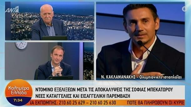 Νίκος Κακλαμανάκης – ΚΑΛΗΜΕΡΑ ΕΛΛΑΔΑ - 18/01/2021