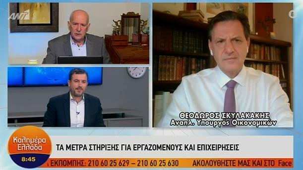 Θεόδωρος Σκυλακάκης - αναπληρωτής υπουργός Οικονομικών – ΚΑΛΗΜΕΡΑ ΕΛΛΑΔΑ – 10/11/2020
