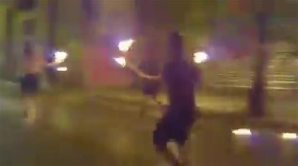 Βντεο ομάδας αναρχικών με την επίθεση με μολότοφ στα Εξάρχεια