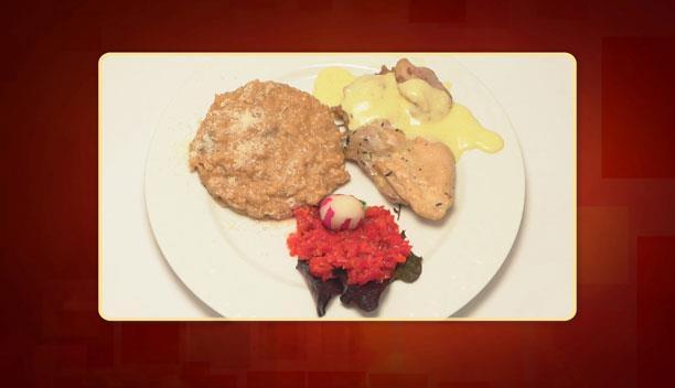 Φιλέτο κοτόπουλο με ριζότο μανιταριών του Λεωνίδα - Κυρίως πιάτο - Επεισόδιο 65