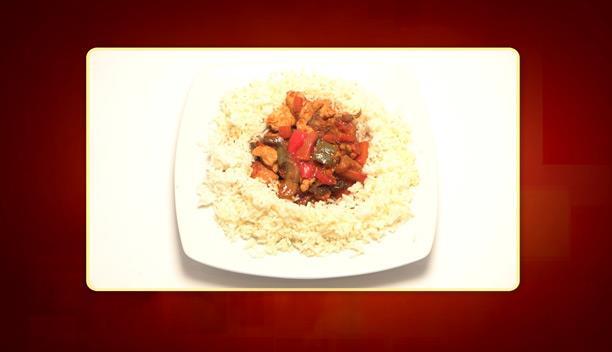 Κινέζικο κοτόπουλο με μανιτάρια, πιπεριές και ρύζι της Φανής - Κυρίως πιάτο - Επεισόδιο 40