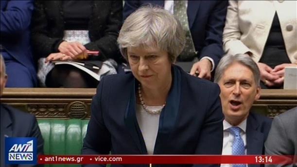 "Brexit: Χάος μετά το ""χαστούκι"" στη Μέι"