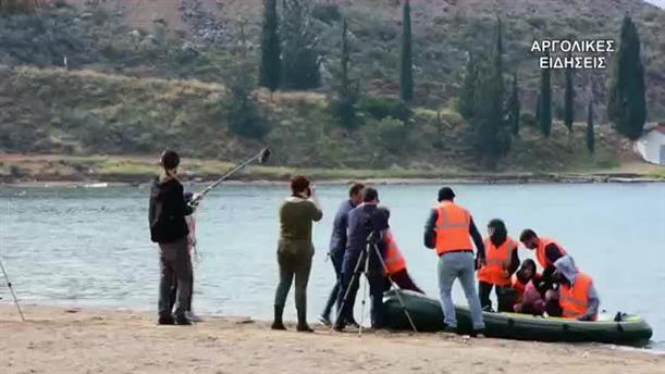 """""""Πρόσφυγες"""" κατέπλευσαν στο Ναύπλιο για τις ανάγκες ταινίας"""