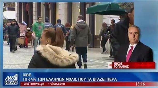 ΙΟΒΕ: με το ζόρι τα βγάζουν πέρα 2 στους 3 Έλληνες