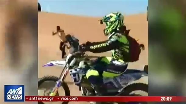 Ελληνίδα τερμάτισε σε αγώνα μοτοσικλέτας στις ερήμους του Μαρόκο