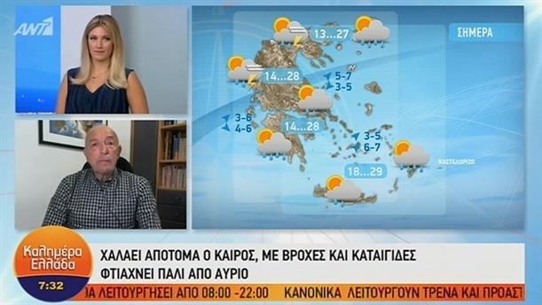ΚΑΙΡΟΣ – ΚΑΛΗΜΕΡΑ ΕΛΛΑΔΑ - 24/09/2019