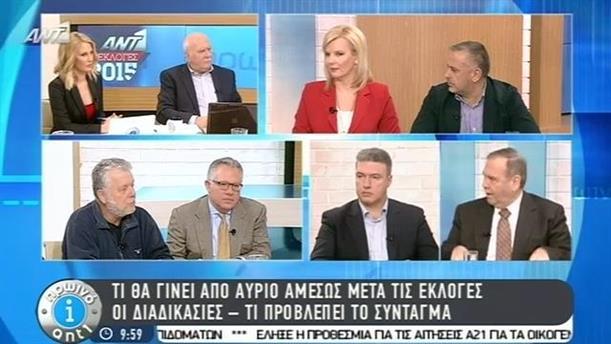 Πρωινό ΑΝΤ1 – Εκπομπή - 25/01/2015
