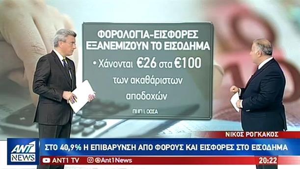 ΟΟΣΑ: Στην 3η θέση η Ελλάδα στις φορολογικές επιβαρύνσεις των εργαζομένων