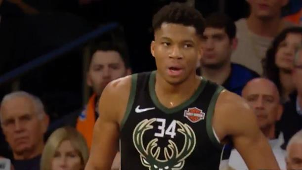 Τα highlights της εμφάνισης του Γιάννη Αντετοκούνμπο κόντρα στους Knicks
