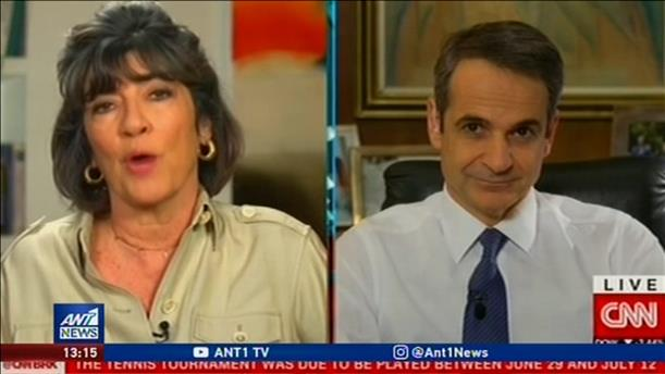 Μηνύματα προς πολλούς αποδέκτες έστειλε ο Μητσοτάκης μέσω CNN