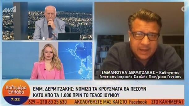 Ο Εμμανουήλ Δερμιτζάκης στο «Καλημέρα Ελλάδα»