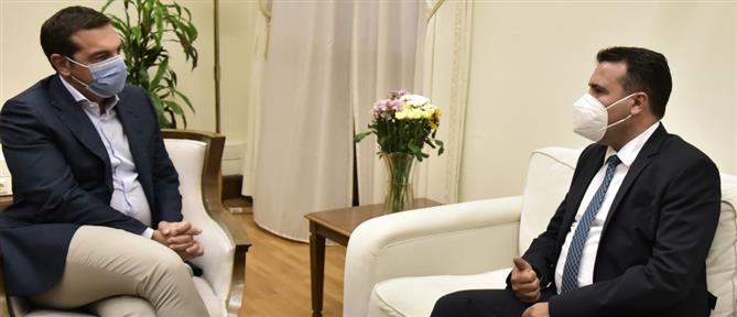 Τσίπρας σε Ζάεφ: Χαίρομαι που η ΝΔ δίνει μάχες για τη Συμφωνία των Πρεσπών