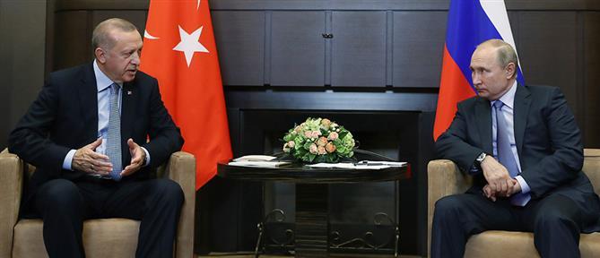 """""""Παζαρεύουν"""" το μέλλον της Συρίας Πούτιν και Ερντογάν"""