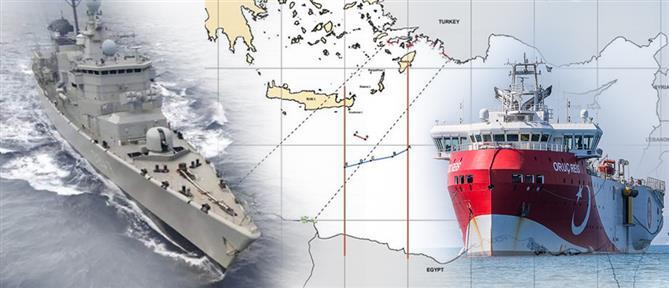 Πόλεμος νεύρων από την Τουρκία, με το Oruc Reis στην ελληνική υφαλοκρηπίδα
