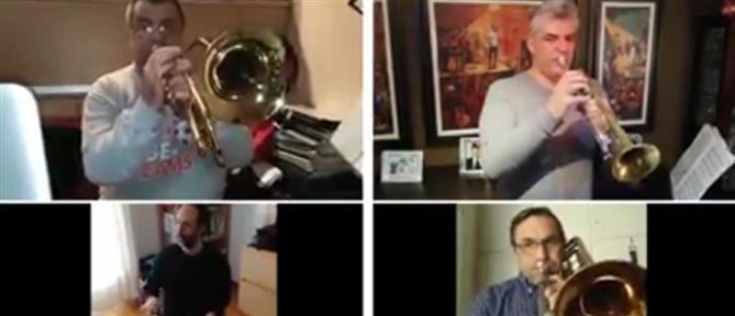 """Η Φιλαρμονική Ορχήστρα του Δήμου Αθηναίων μοιράζει """"θετική ενέργεια""""… από το σπίτι  (βίντεο)"""