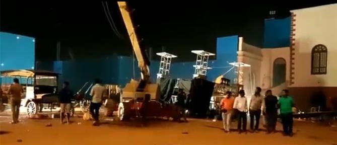 """Δυστύχημα σε γυρίσματα ταινίας """"Bollywood"""" (εικόνες)"""
