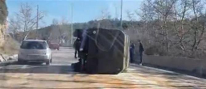Ντεραπάρισε στρατιωτικό όχημα (βίντεο)