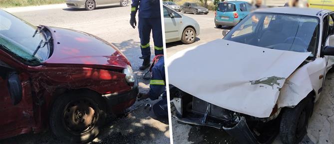 Τροχαίο με δύο τραυματίες (εικόνες)