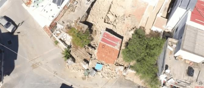 Σεισμός στην Κρήτη: Βίντεο από drone αποκαλύπτει το μέγεθος της καταστροφής