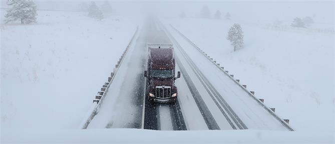 Στο έλεος του χιονιά οι κεντρικές ΗΠΑ (εικόνες)