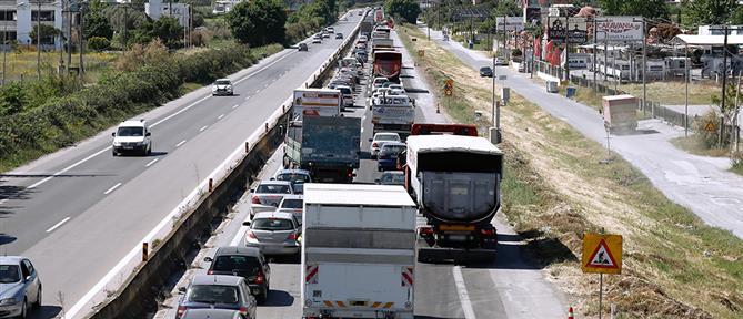 Θεσσαλονίκη: μποτιλιάρισμα στον δρόμο προς Χαλκιδική (εικόνες)