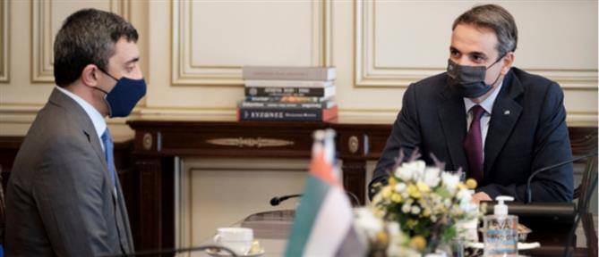 Μητσοτάκης - Al Nahyan: Άριστες οι διμερείς σχέσεις Ελλάδας - ΗΑΕ