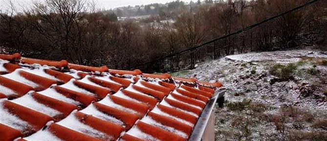 Καιρός: Ανοιξιάτικο χιόνι μέσα στον Απρίλη (εικόνες)