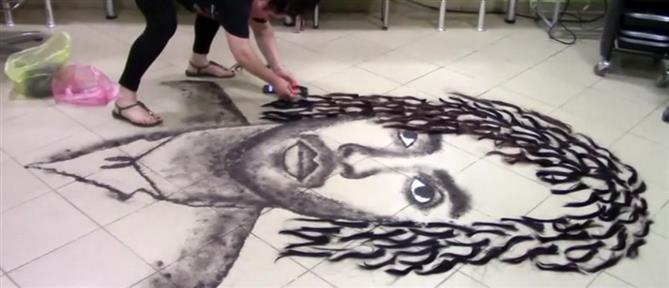 Viral η κομμώτρια που κάνει Τέχνη από τις περισσευούμενες τρίχες (βίντεο)