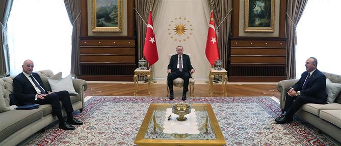Ερντογάν: Ο Τσαβούσογλου έβαλε τον Δένδια στη θέση του