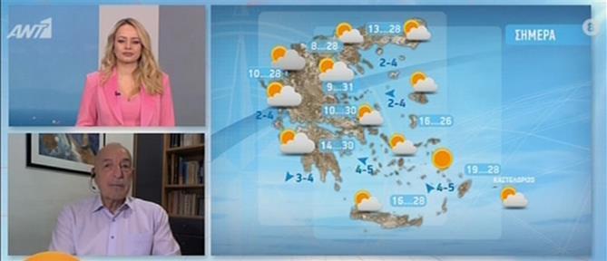 Ο καιρός για σήμερα από τον Τάσο Αρνιακό (βίντεο)