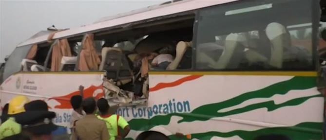Πολύνεκρη μετωπική λεωφορείου με φορτηγό (εικόνες)