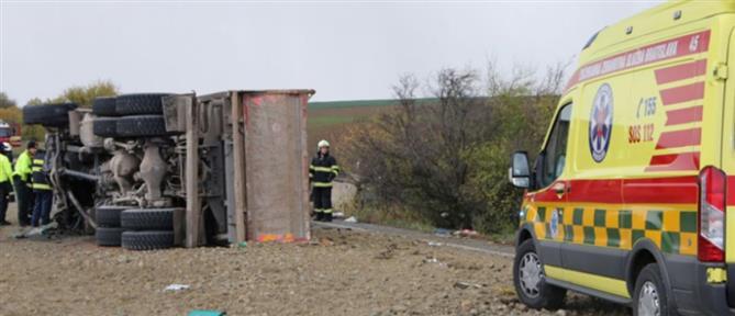 Σλοβακία: Πολύνεκρη σύγκρουση λεωφορείου με φορτηγό (εικόνες)