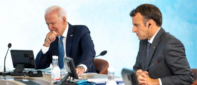 """Μπάιντεν - Μακρόν: Νέα επικοινωνία και """"ραντεβού στην Ρώμη"""""""